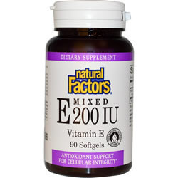 Natural Factors, Mixed E 200 IU, Vitamin E, 90 Softgels
